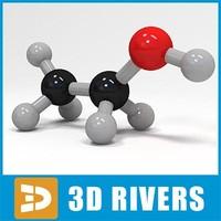 3ds ethanol molecule structure