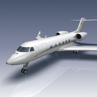 g450 aircraft gulfstream 3d model