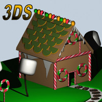 3d ginger bread house model