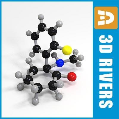 3ds ketamine molecule structure