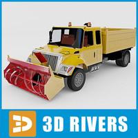 snow removal machine 3d 3ds