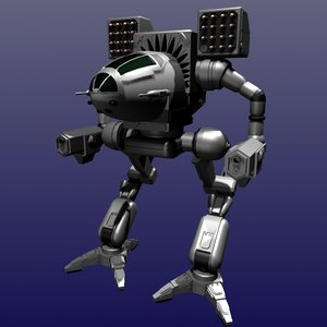 mech warrior 3d model