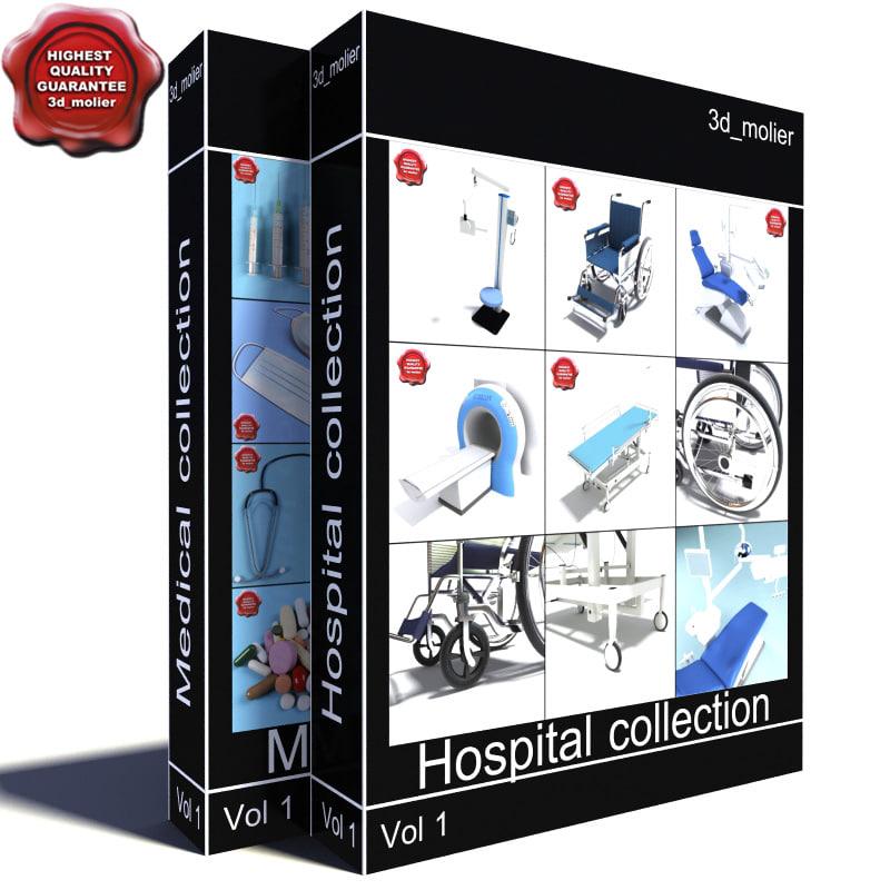 medical big collections 3d model