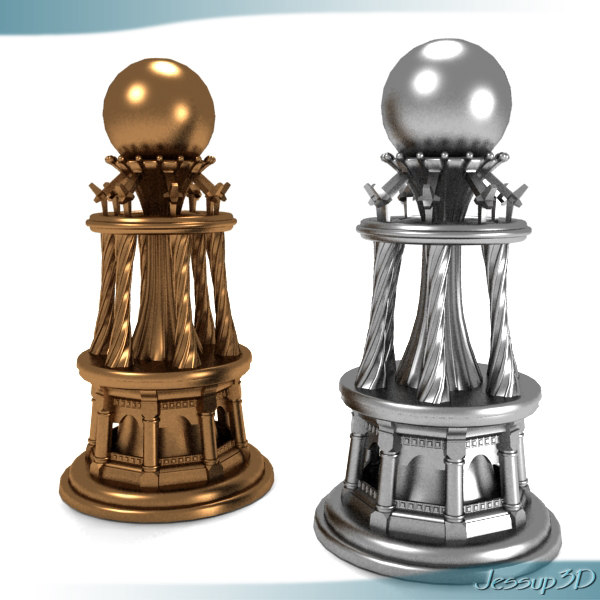 chess piece 3d max