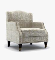 3d model armchair baker 520 31