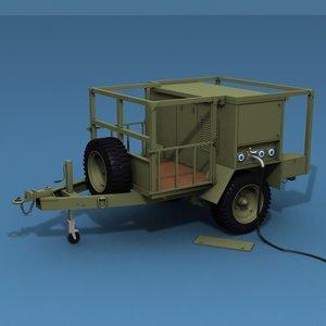 portable generator military 3d model