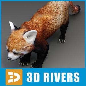 3d model red panda
