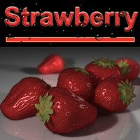 strawberry berry 3d model