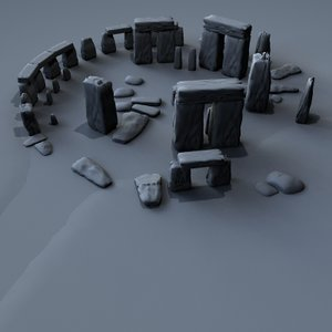 3d model ancient stone henge stonehenge