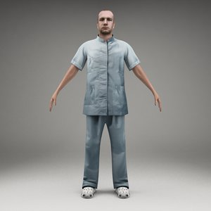 axyz characters human 3d 3ds