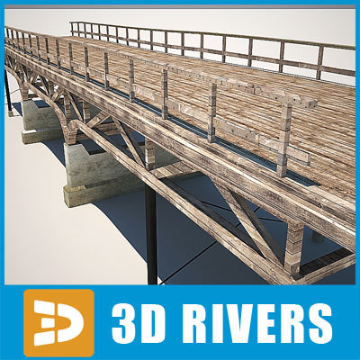 3d max wooden bridge forest