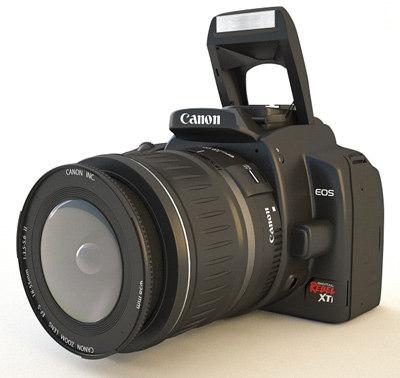 canon rebel xti 400d 3d max