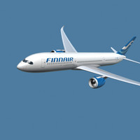 a350-900 finnair 3d 3ds
