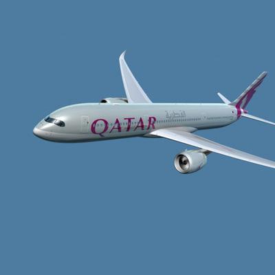 3dsmax a350-900 qatar