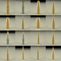 3d model of bullets