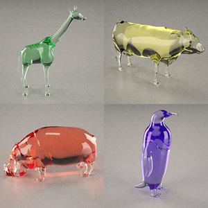 3d 3ds glass statuettes