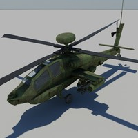3d model apache helicopter