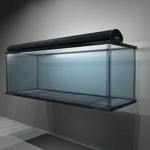aquarium glass 3d model