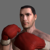 3d model boxer man athlete