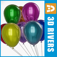 balloons kids party 3d 3ds