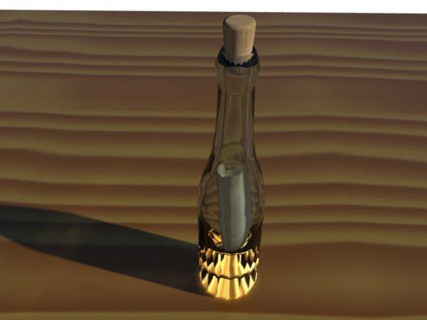 3d model note bottle