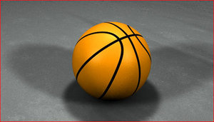 3d basketball model