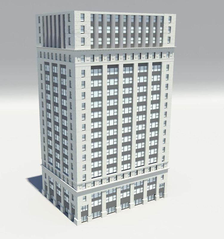 3d model classic old building