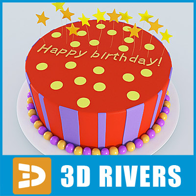 Birthday Cake Ds Max