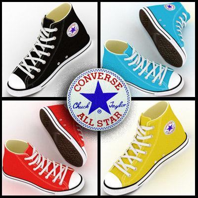 3dsmax converse shoes