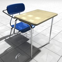 3d model desk classroom