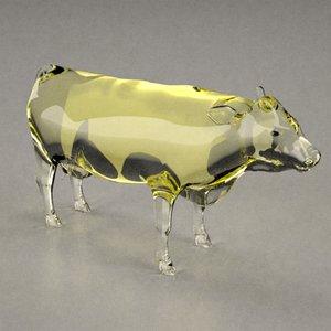 3d model glass statuette