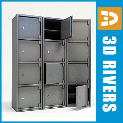 3d bank locker model