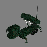patriot pac-3 missile battery 3d model
