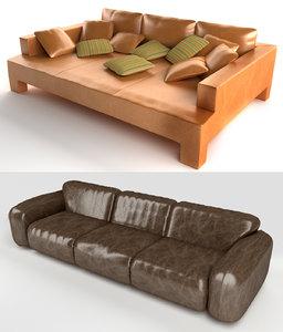 3ds max 2 sofas
