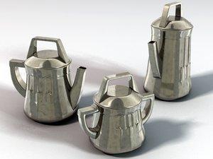 3d teaset arts craft model