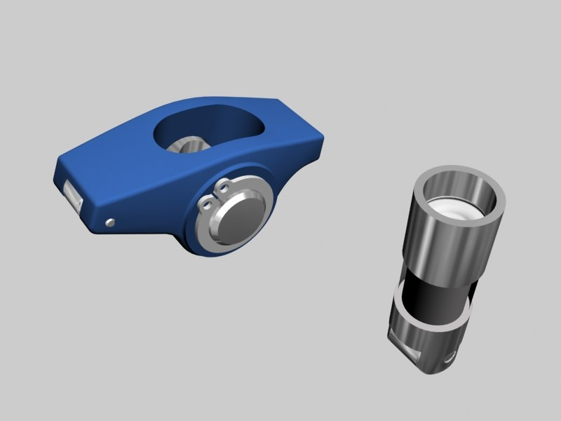 3d model rocker arm cam follower