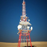 communication tower 3d model