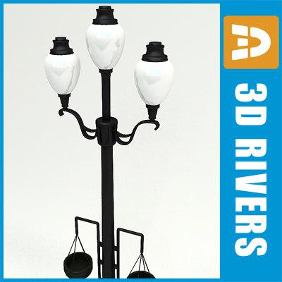 3d model old street light streetlights