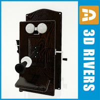 retro pay phone 3d 3ds