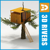 3d model kids tree house