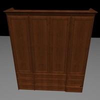 3ds max wardrobe shelving