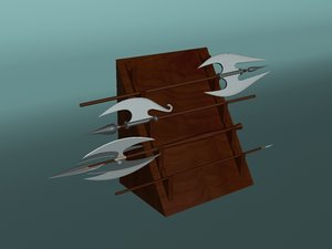 3d weapon axe model