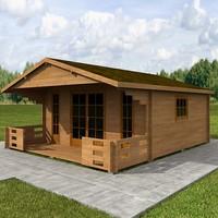 3d model wood hause 5