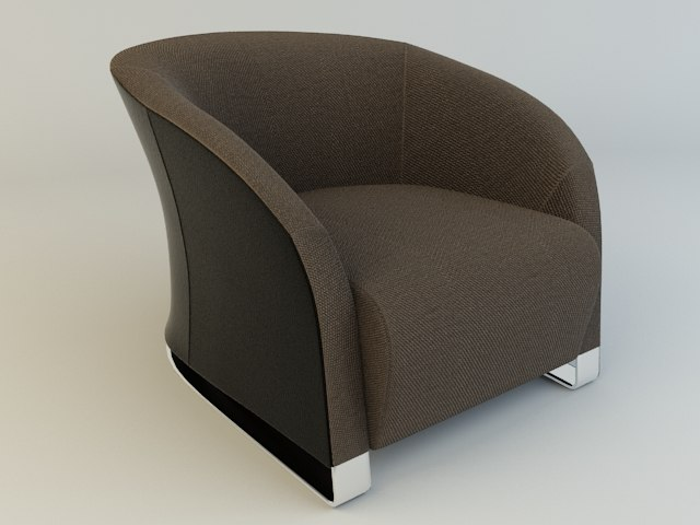 natuzzi chair 2432 3d model