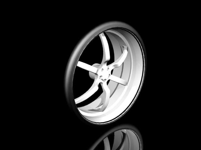 aluminum wheel 3d max