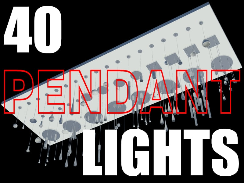 40 lights 3d max