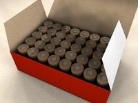 ammo box bullets 3d model