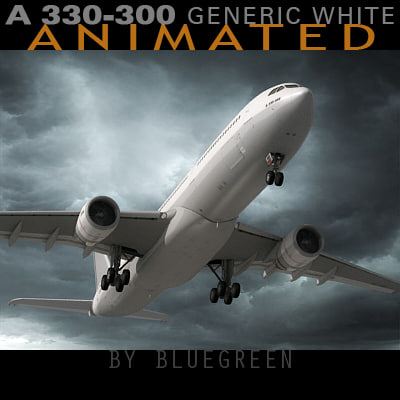 3dsmax airbus a330-300 generic plane