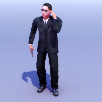 rigged agent 3d max