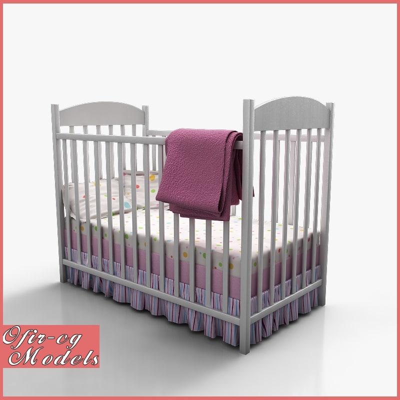 3ds baby crib